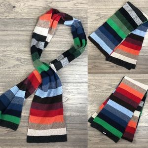 Gap Multicolor Ribbed Stripped Scarf